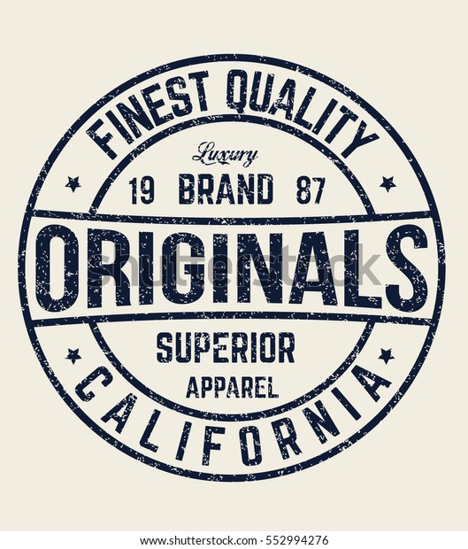 ce920abc8a3b5d Original Tshirt Typography Retro Artwork Vector Stock-Vektorgrafik ...