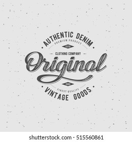 Original typography for t-shirt print. Apparel fashion design. Vector illustration.