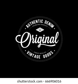 Original typography for t-shirt print. Apparel fashion design. Vector illustration