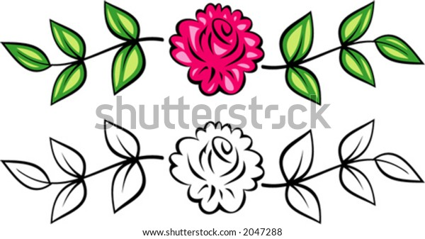 Original Vector Floral Ornament (Roses). This is a vector image - you can simply edit colors and shapes.