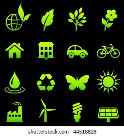 Original vector illustration: environment elements icon set