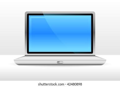 Original Vector Illustration: Laptop Computer File is AI8 compatible