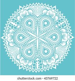 original vector snowflake, lace