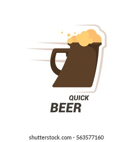 Original vintage retro art badge logo design template for beer house, bar, pub, brewing company, brewery, tavern, taproom, alehouse, beerhouse, dramshop, restaurant