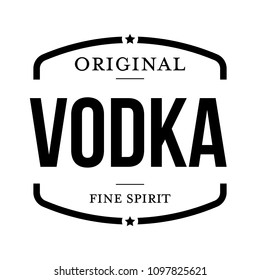 Original vodka vintage stamp