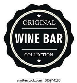 Original Wine Bar collection stamp.Sign.Seal.Logo