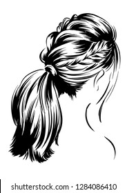 Original women hairstyle for long hair