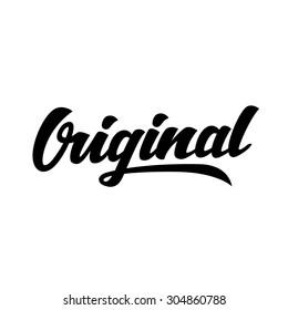 Original word hand lettering. Handmade vector calligraphy