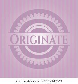 Originate pink emblem. Retro. Vector Illustration. Detailed.