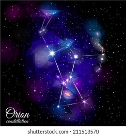 Orion Constellation. True star and nebulosity positions. Smartly layered. Mask was used.