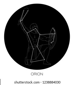 Orion Constellation Vector