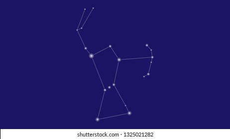 Orion constellation vector design