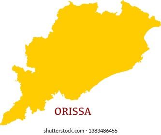 Orissa Map Hd Stock Images Shutterstock