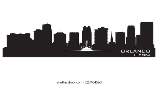 Orlando, Florida skyline. Detailed city silhouette. Vector illustration