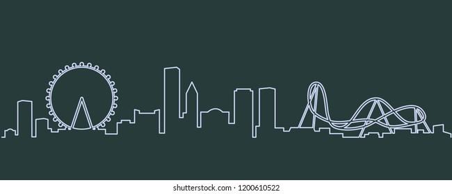 Orlando Single Line Skyline