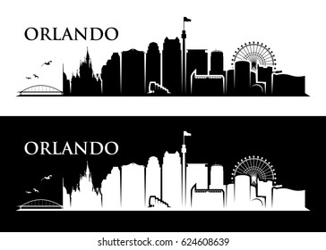 Orlando skyline - Florida - vector illustration