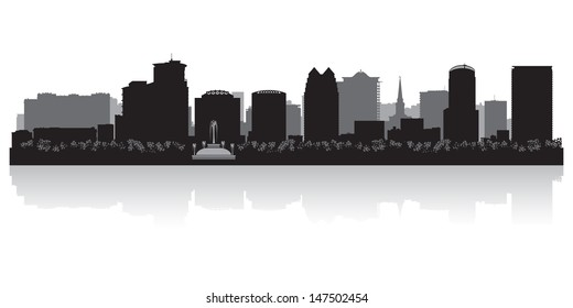 Orlando USA city skyline silhouette vector illustration