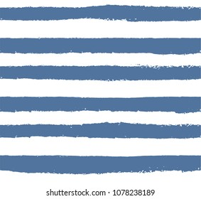 Ornament with careless horizontal lines.Blue and white.A linear pattern.Imitation careless drawing by hand.Abstract composition.Minimalism.Design.Pattern for decoration.Decorative stripes.Print fabric