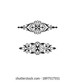 ornament for frame artwork and pinstripe