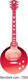 An ornament Guitar