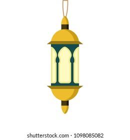Ornament Hanging Golden Lantern Illustration Design - Shutterstock ID 1098085082