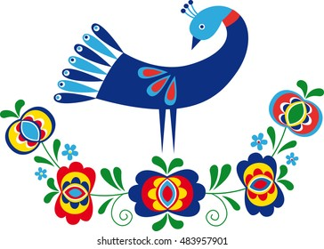 Ornament inspired by folk design from South Moravia