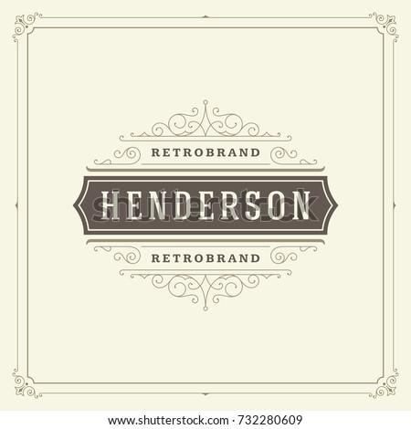 Ornament Logo Design Template ...