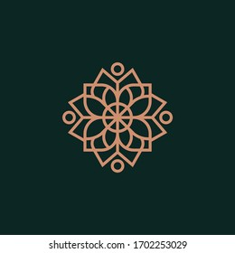 ornament logo icon vector design. Elegant premium ornament vector logotype symbol