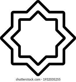 Ornament ramadan outline icon for muslim and ramadan content