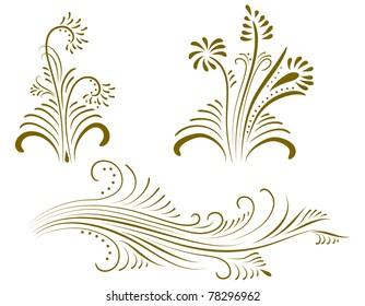 Ornament vector elements