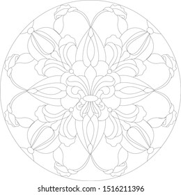 Сircle ornament vector graphics.  Pattern Corel DRAW.