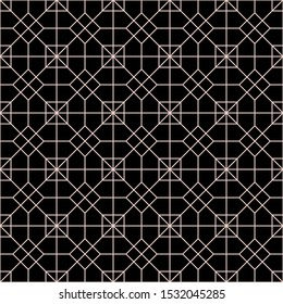 Ornament Vector seamless pattern. Modern stylish texture. Repeating geometric square grid. Simple graphic design. Trendy hipster sacred geometry.