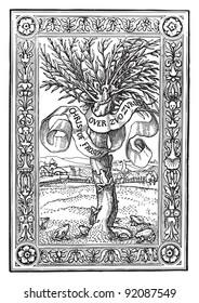Ornament / vintage illustration from Meyers Konversations-Lexikon 1897