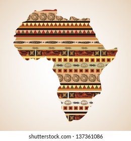Ornamental African continent