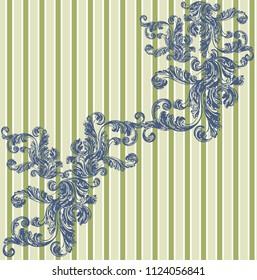 Ornamental background striped Hand drawn vector dividers. Lines, borders and laurels set. Doodle design elements.