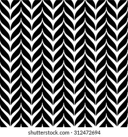 Ornamental black and white seamless pattern. Vector abstract background