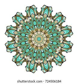 Ornamental circle pattern. Hand draw Mandala. Vintage decorative elements. vector illustration. Anti-stress therapy pattern.