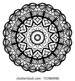 Ornamental circle pattern. Mandala. Vintage decorative elements. Hand drawn vector background