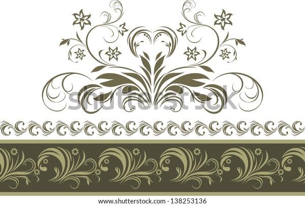 ornamental-dark-green-border-isolated-60