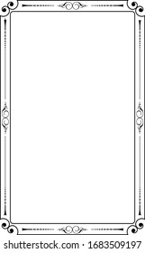 Ornamental decorative frame created in vector.