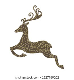 ornamental deer, vector logo icon