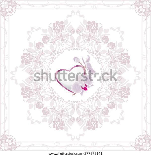 ornamental-element-heart-orchid-valentin