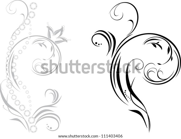 ornamental-element-shining-strasses-vect