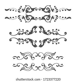Ornamental elements collection design. - Vector.