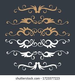 Ornamental elements collection design. - Vector.