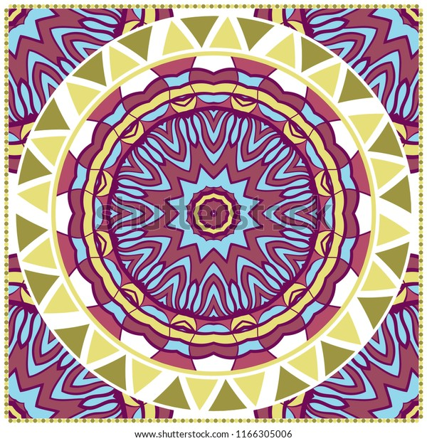 Ornamental Ethnic Pattern Fashion Design Shawl Stock Image