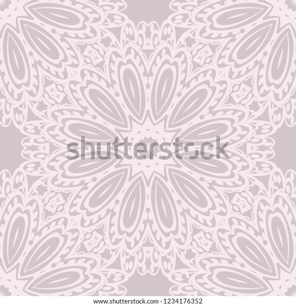 Ornamental Ethnic Seamless Pattern Fashion Design Stock