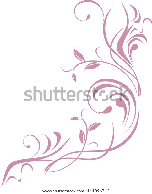 ornamental-floral-element-design-isolate