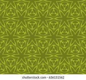 Ornamental flower design. Modern seamless geometry pattern. Vector illustration. For the interior, printing, textile