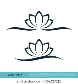 Ornamental Flower Icon Vector Logo Template